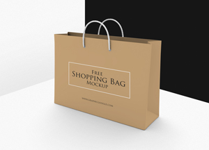 Free Shopping Bag Mockup PSD Template