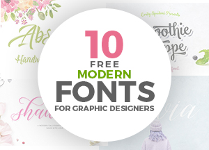 10 Must Have Modern Free Fonts For Graphic Designers