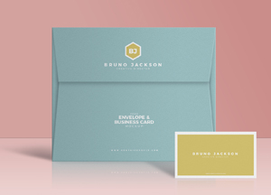 Free Envelope & Business Card Mockup PSD