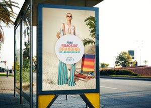 Free Roadside Branding Billboard Mockup