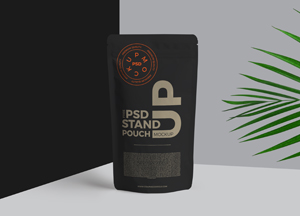 Free Psd Stand Up Pouch Mockup