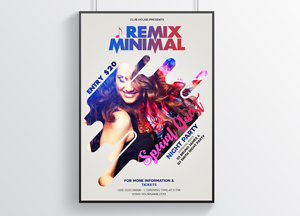 Free Minimal Modern Party Flyer Design Template