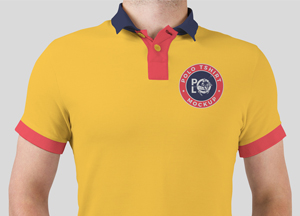 Free Man Wearing Polo T-Shirt Mockup