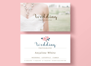 Free Wedding Photography Business Card Template