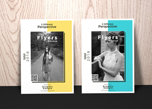 Free Flyers Mockup With 2 Different Perspective
