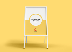 Free Outdoor Advertisement Sandwich Board Mockup PSD