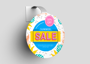 Free Advertising Wobbler Mockup PSD