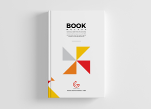 Free Book Cover Mockup PSD For Branding