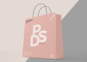 Free Modern Shopping Paper Bag Mockup PSD For Presentation 2018