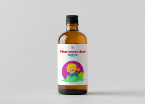Free Pharmaceutical Bottle Mockup PSD For Label Presentation