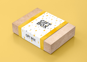 Free Craft Paper Gift Box Mockup PSD 2018