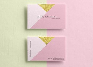 Free Elegant Texture Business Cards Mockup PSD