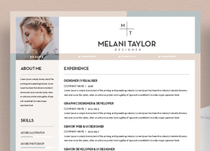Free CV-Resume Template With Cover Letter For Pro Designers